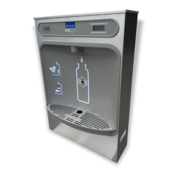 Surface mounted bottle filling station